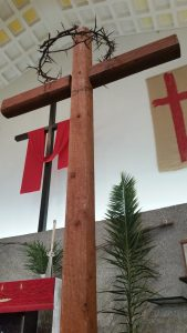 pam sunday - cross in chancel